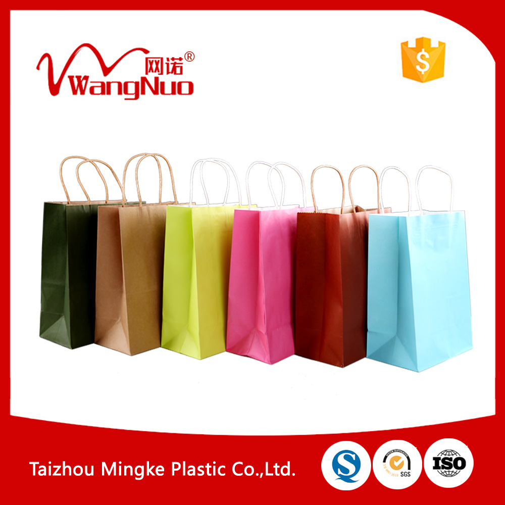 Hot selling custom logo printed shopping gift paper bag with handle with great price