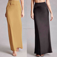 Bohemian Gypsy Skirt Satin Maxi Skirt Wholesale Custom Made in China Satin Long Skirts