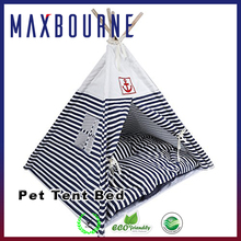 New Folded fashion dog bed pet tent wooden pet bed