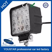 Full output low defective rate IP67 black aluminum housing Spot Flood led working light 48w