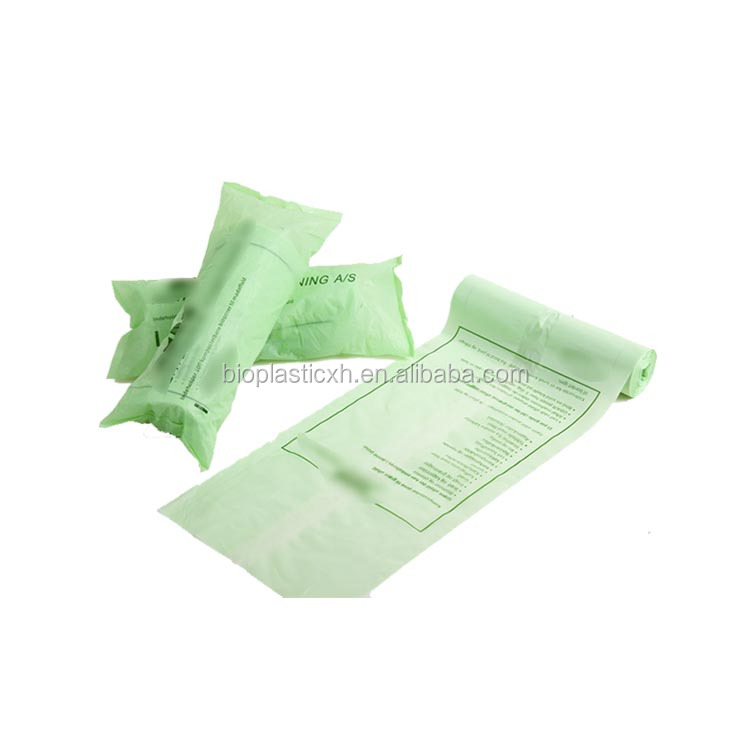 EN13432 biodegradable cornstarch plastic EN13432 ASTMD 6400 biodegradable trash bags