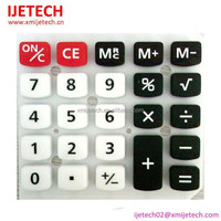 Customized Carbon Pill Silicon Keypad With PU Coating