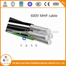 600v 8000 series Aluminum alloy conductor quadplex RHH RHW-2 USE-2 mobile 4 conductor 1/0 home feeder cable MHF cable