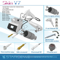 portable skin care beauty equipment with basic functions dermabrasion rf led