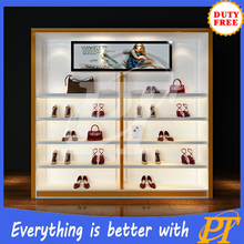bag showroom display stand, handbag display fixture
