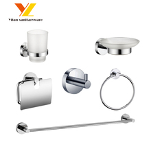 China Cheap Price Home And Hotel Toilet Accessory Metal Bathroom Set