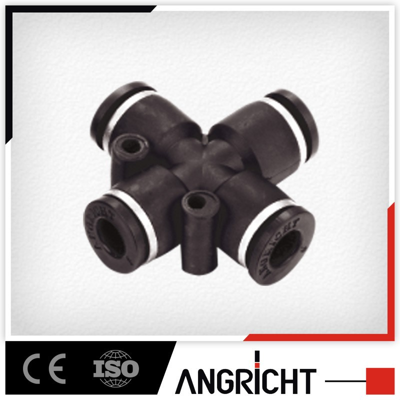 A116 black plastic equal 4 way adjustable cross joint elbow pipe fittings