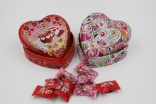 heart shape metal tin candy box for wedding party favor
