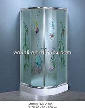 design glass of shower enclosure AJL-1103