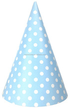 Polka Dots Circular Party Cone Hats For Kids Birthday Favors