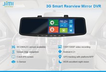 JIM car rearview mirror 3g android gps security cameras dvr