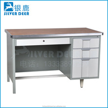 Simple Design Executive 3 Drawers Steel Office Desk/ Steel Office Table