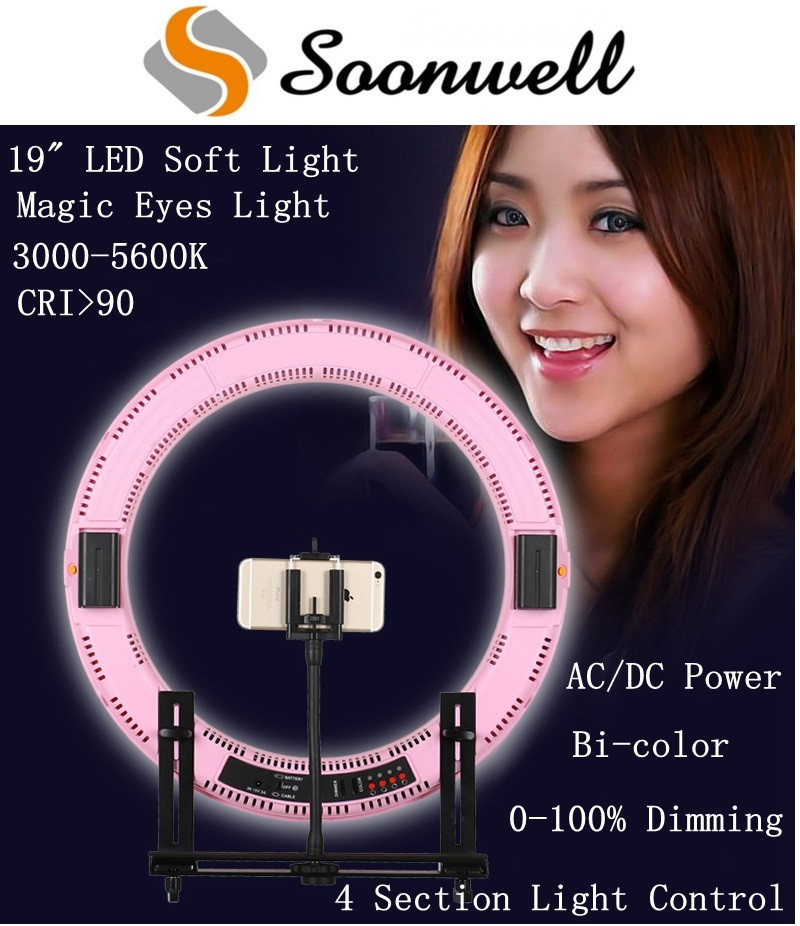 Photo Video Studio LED Ring Light Subsection Control Bi-Color Circular LED Photography Soft Light
