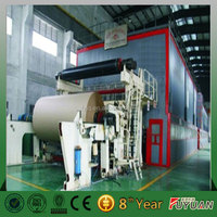 Made in China best price of fluting paper making machinery/corrugated base paper producting machine