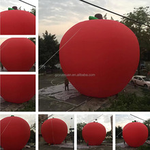 High quality hot sale inflatable apple balloon, inflatable fruit model for advertising promotion