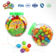 round ball shape chewing football bubble gum in jar