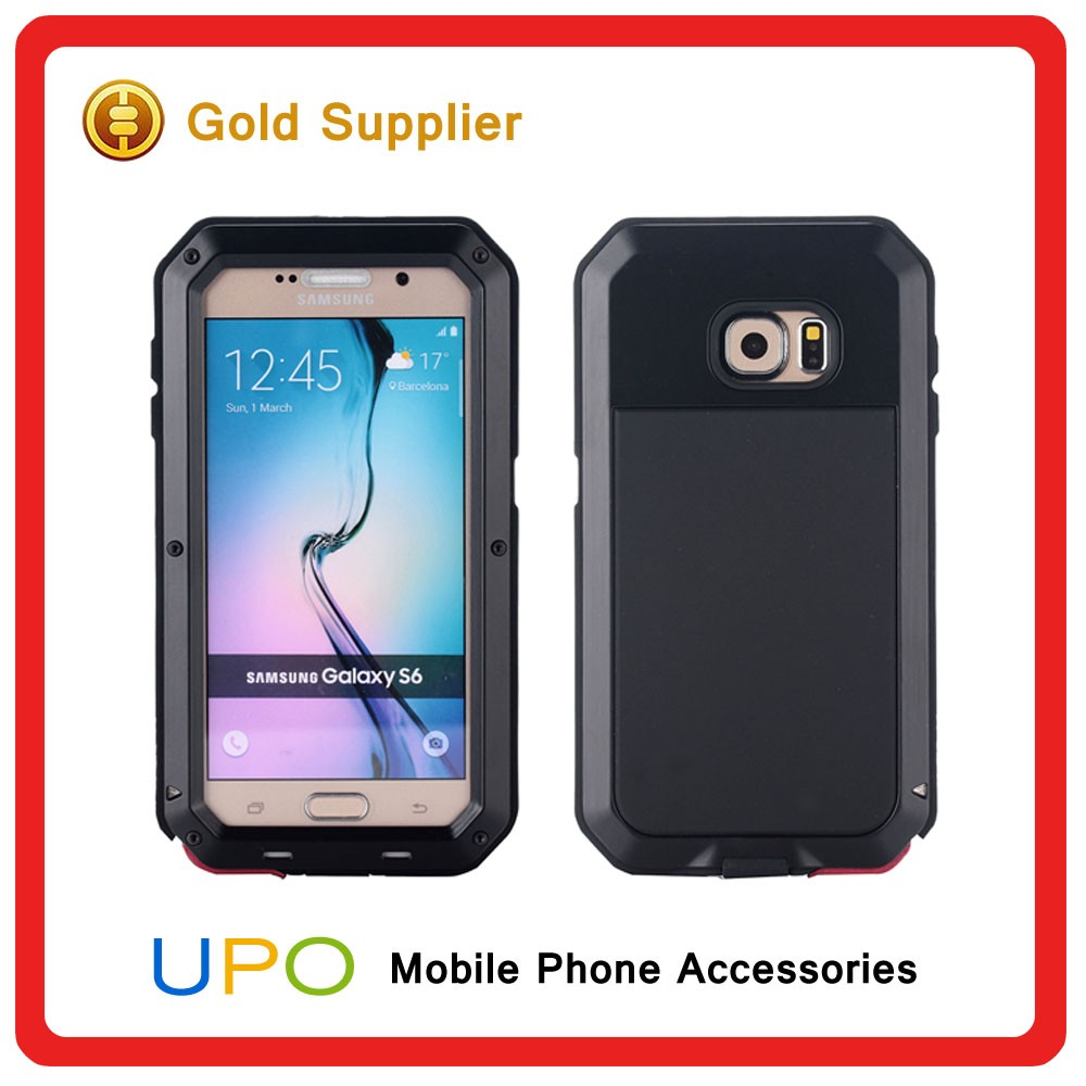 [UPO] Fashionable Waterproof Metal Bumper Defender Phone Cover Case for Samsung Galaxy S6