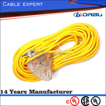 Multiple Socket Heavy-Duty Power Extension Cord 15A, 14AWG (NEMA 5-15P to NEMA 5-15R) 30-ft.