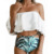 2019 Bikini Set Flounce Swimsuit Push Up Bathing Suit Sexy Cutout High Waist Swimwear Women Off Shoulder Swimming Suit JSN39