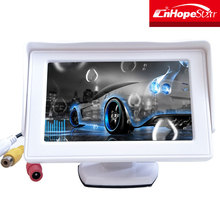 4.3 inch tft lcde hd input car roof monitor with OSD Sucker mount