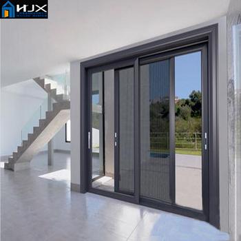 Aluminum Balcony Sliding Doors With Screen Door,sliding Doors For Balcony,aluminum  Glass Door