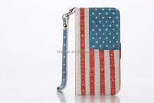 "AI65003 flag Patterned flip Wallet PU Leather Case for iphone 6 plus 5.5inch, cover case for iphone 6 plus 5.5"" with card slot"