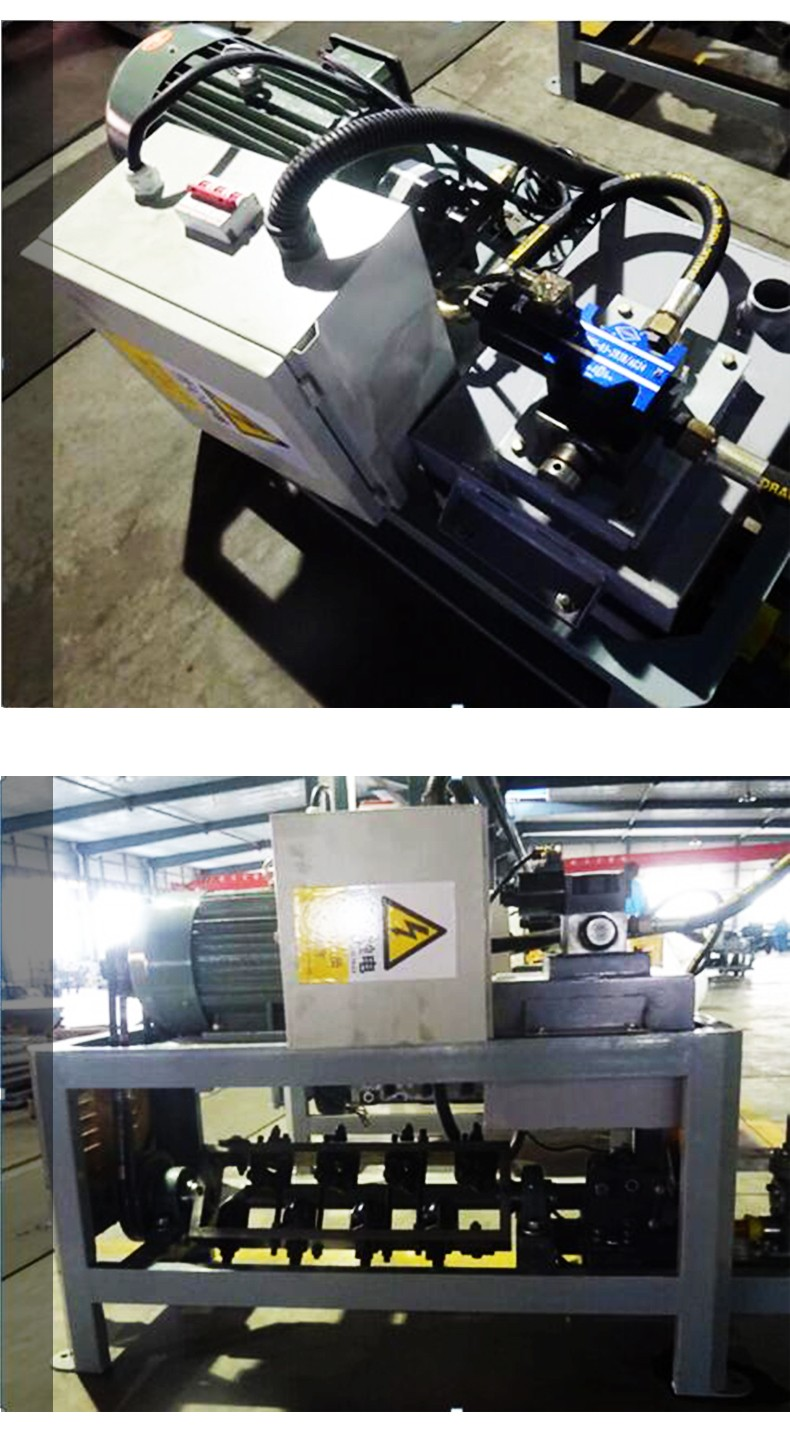 reinforcing steel bar straightening and cutting machine