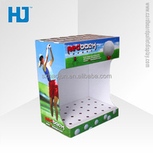 Countertop display rack for golf ball cardboard counter top display