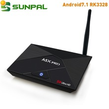 A5X Pro RK3328 2G 16G smart iptv box android 7.1 OS Android TV Box quad Core 4K google Android 7.1 TV Box full hd ott tv