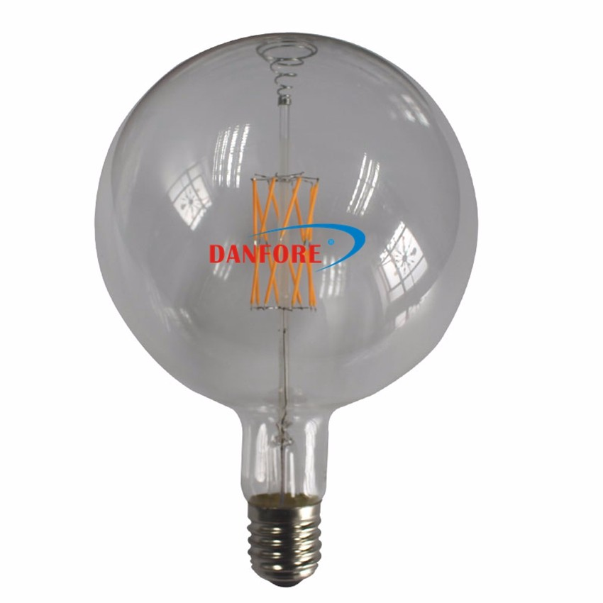 8W Extra large Mega Globe Vintage LED Filament G200 LED Bulb with Glass cover E40 E27 base Dimmable