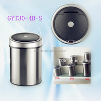 Stainless Steel automatic trash can touchless waste sensor bin