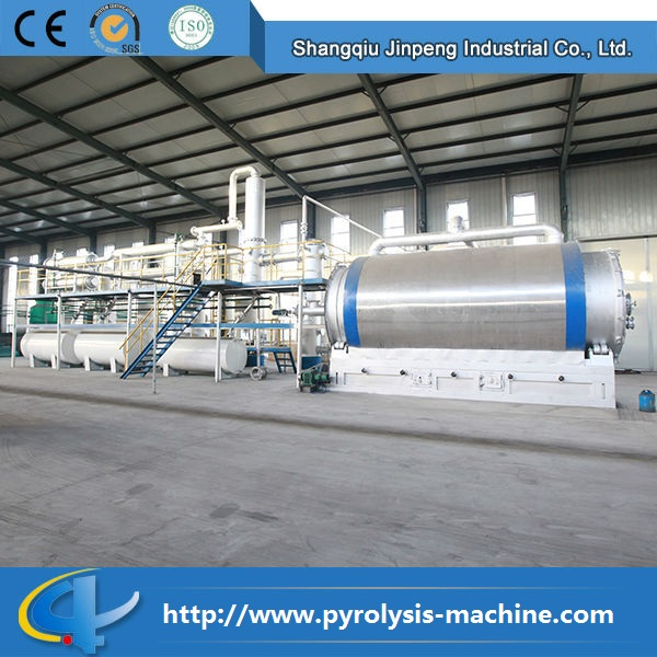 Batch-type or intermittent used rubber tire recycling equipment for fuel oil