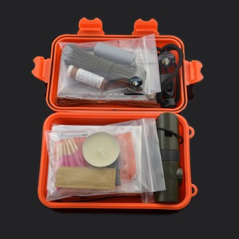 chongfu outdoor 12 in1 hiking mess kit personal military survival kit for camping