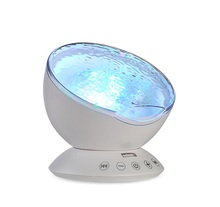 Huiyou 12 LED night light with built-in music ocean wave night light projector
