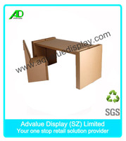 hot sale DIY paper Table / Chair corrugated cardboard furniture