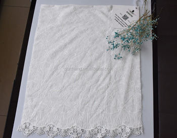 Dress fabric -cotton voile embroidery fabric with chemical embroidery ege