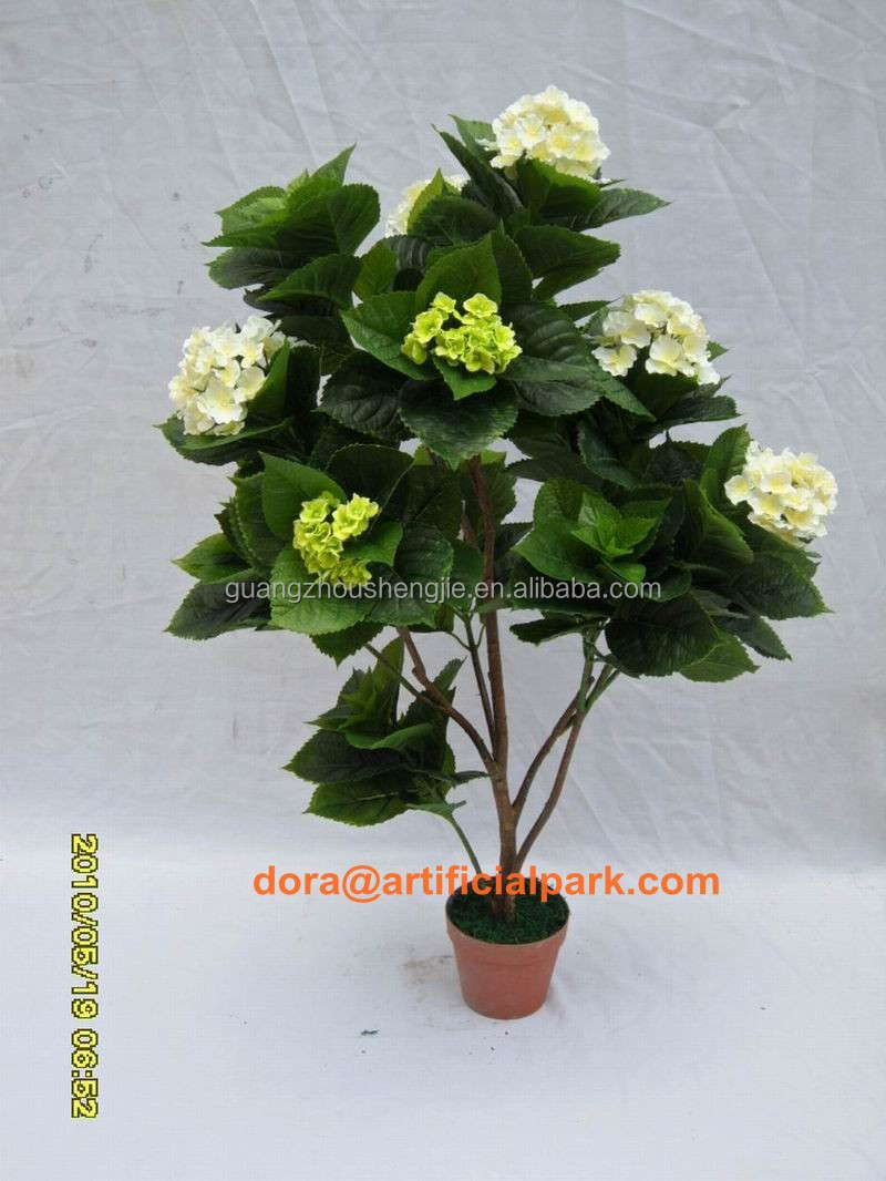 artificial/fake potted plant big decorative hydrangea bonsai