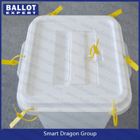 transparent plastic box PVC clear box UV printing services cosmetic ballot box