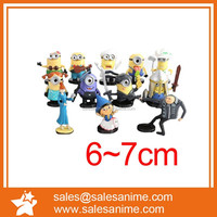 Anime Minion female figure action figure custom made plastic doll hot toys action figures10pcs Set
