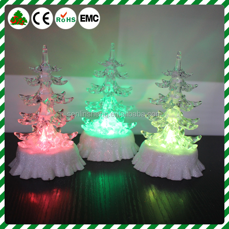 marry Christmas transparent tree light With base