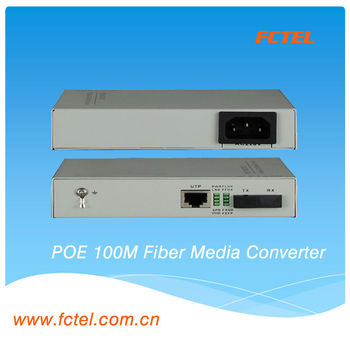100M media converter ethernet switch poe ethernet converter,POE+media converter