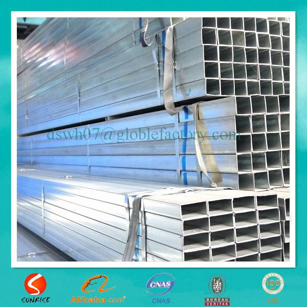 erw low carbon thin walled pre galvanized rectangular pipes