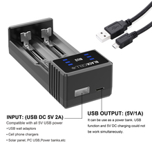 USB Charger BLACKCELL BU2 DC 5V 2A Smart 77mm Longer Slot Charger aa aaa 18350 18650 26650 20700 battery charger