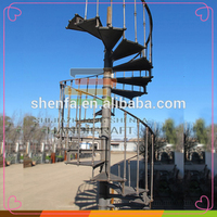 Cast iron outdoor metal spiral stairs