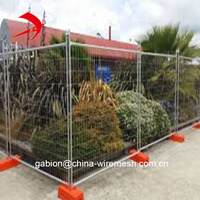 2.4m x2.1m Hot-dipped galvanized Australia temporary fence