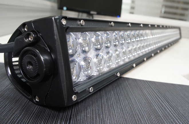 Military breather 4D lens led light bar offroad 288W 50 inch led bar off road