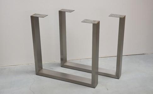 U shaped stainless steel table legs buy metal u shape - Pied metal table ...