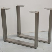 U Shaped Stainless Steel Table Legs