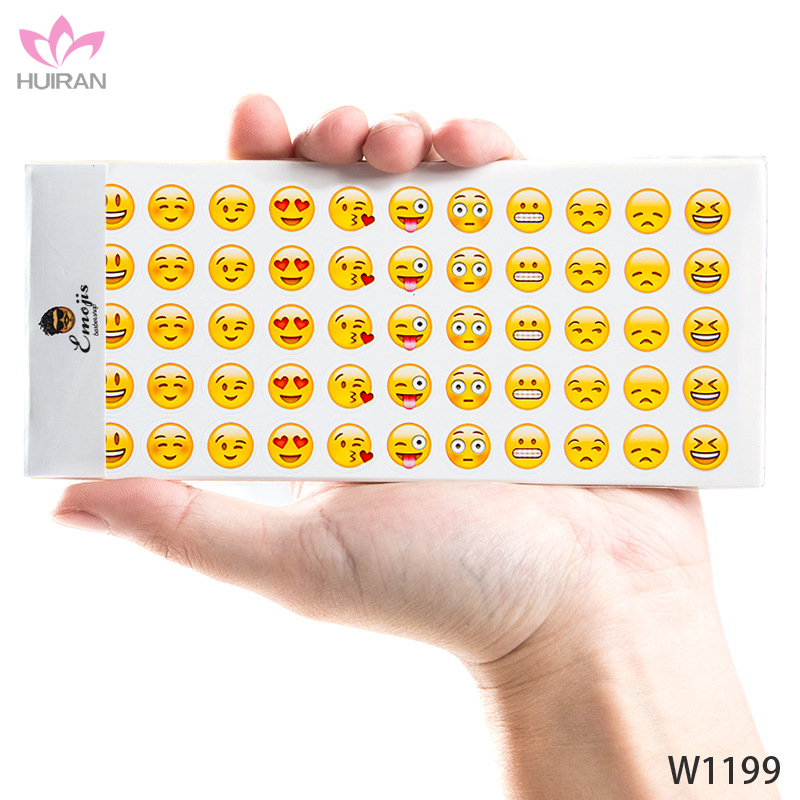 16x7cm 12pcs A Set Mobile Phone Decoration Sticker Printing Smiley Emiji Sticker