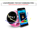 SOS Function Remote GPS Tracking Kids Smart watch with Real-time GPS Monitoring 3g kids gps watch